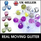 Fidget Finger Spinner Liquid Moving Glitter Bling Ultimate Spin Stress Toys UK