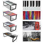 New Glass Coffee Table 4 Patterns Selectable Side Coffee End Table Living Room✓