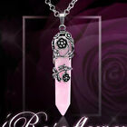 Natural Amethyst Rose Quartz Crystal Agate Stone Beads Hexagon Pendulum Pendant