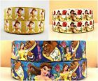 "1 Metre BEAUTY & THE BEAST Grosgrain Ribbon 7/8"" 22mm 1"" 25mm Cake Bow Hair"