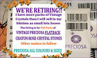 Retiring  Full pack PRECIOSA Vintage Flatback Crystal Rhinestone packet Nail Art