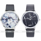 Fashion Marble Grain Wristwatch PU Leather Band Quartz Analog Watch With Box US
