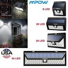 Mpow Solar Powered Light Outdoor Motion Sensor Garden Wall Lamp 8/20/24/54 LED
