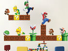 Super Mario Bros Wall Decals Nintendo Wallpaper Stickers Mario Game Room, n71