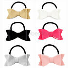 3 Inch Boutique Bowknot Newest Hair Bow Synthetic Leather Bows Elastic Hair Band