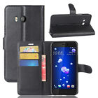 """For HTC U11 5.5"""" Case PU Leather Flip magnet Cover Slots Wallet Protective"""