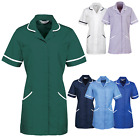 PERSONALISED LOGO Healthcare Tunic Dentistry Vets Nurse Medical Therapy Uniform