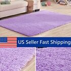 Purple Fluffy Rugs Anti-Skid Shaggy Area Rug Carpet Floor Ma