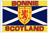 More images of Scotland Saltire Bonnie Scotland Sleeved Flag ideal for Boats 45cm x 30cm