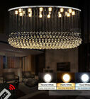 Modern fashion oval Clear Crystal Chandelier LED Ceiling Villa Stairs Lighting