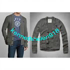 NWT ABERCROMBIE & FITCH MENS MACINTYRE BRIDGE SWEATER GREY SIZE LARGE A&F