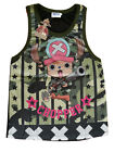 Anime One Piece-Chopper-Camouflage-Sleeveless-Licensed T-shirt Clothing-Cotton