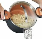 Gotham Steel Nonstick Multi Pasta Pot with Built in Easy-Lock Strainer Lid -NEW