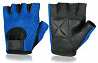 Half Finger Leather Weight Lifting Classic Gym Gloves Fitness Exercise Training