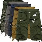 Cool Casual Mens Summer Army Combat Pants Camo Workout Cargo Shorts Trousers