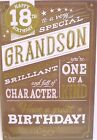 """""""GRANDSON"""" 18TH Birthday Card ~ You're one of a kind"""