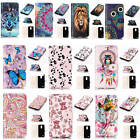 For LG K10 (2017) Relief Painted Premium Varnish Leather Card Pockets Case Cover