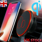Qi Wireless Car Charger Magnetic Air Vent Mount Holder For Samsung Galaxy S8 S9