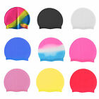 Unisex Silicone Swimming Cap Waterproof Shower Adult Kids Male Female Swim Hat