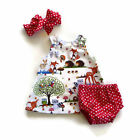 Baby Girls Headband Dress Shorts Pants Outfit Summer Clothes 3PCS Set Sweet New