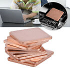 Внешний вид - 20x20mm Copper Heat Sink Shim Sheet Thermal Pads for Laptop GPU CPU 10 Pcs New