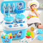 16Pcs Children Kids Kitchen Cooking Role Play Pretend Food Toy Cooker Game Set