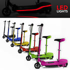 Electric E Scooter Ride on Rechargeable Battery Scooters With Led Light And Seat