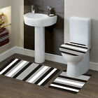 ELEGANT BATHROOM SET BATH RUG CONTOUR MAT TOILET LID COVER COMBINED COLORS #7