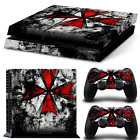 Resident Evil umbrella Vinyl Sticker Skins Decal for PS4 Playstation 4 Console