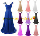 2017 STOCK Long Formal Bridesmaid Dresses Prom Evening Party Wedding Gowns 6-20