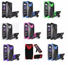 For ZTE Majesty Pro Z799VL Hybrid Phone Cover Case with Stand