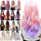 High Style 3 4 Half Wig Long Straight Hair Synthetic Ombre Wigs For Women Daily