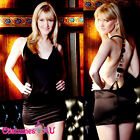 Laides Sexy Womens Black Party Mini Dress Cocktail Dancing Clubbing Lingerie