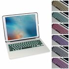 "7 Colors Backlit Aluminum Bluetooth Keyboard Smart Case For iPad Pro 12.9"" US"