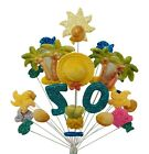 PARADISE HOLIDAY BIRTHDAY CAKE TOPPER 18th 21st 30th 40th 50th 60th 70th 80th 90