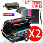 2 Cases  New All in One Zip Purse Wallet Leather CaseCover For iPhone 6 AU