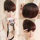Women Braid Wig Bangs Headband Hair Bands Fashion Hair Accessories NEW
