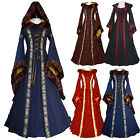 US Stock Renaissance Women Costume Medieval Maiden Fancy Cosplay Over Dress
