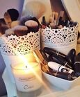 Make Up Brush Holder Pot White  / Candle Holders