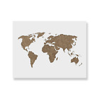 World Map Stencil - Laser Cut Reusable Stencil Available in Small & Large Sizes