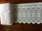 "LUXURY HEAVY JACQUARD WHITE AND CREAM CAFE NET IN 12"",18"" AND 24"" BY THE METRE"
