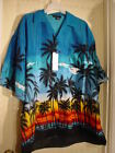 "NEW HAWAIIAN SUNSET SURFING HAWAIIAN SHIRT SIZE 2X 54"" CHEST size tag is missing"