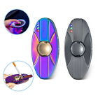 Double LED Flash Electric Lighter Windproof Gyro USB Charge Wire Hand Spinner