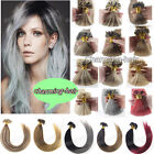 Thick Double Drawn Keratin Nail U Tip Remy Human Hair Extensions Mixed Ombre1g/s