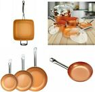 Copper Frying Pan Ceramic NonStick Fry Skillet Cookware Chef Induction Base Chef
