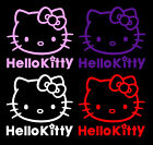 "6"" 10"" 12"" 18"" 23"" Hello Kitty Vinyl Decal 12 COLORS Car Truck Wall Sticker"