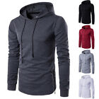 NEWEST Men's Workout Long Sleeve Slim Fit Hooded Sweatshirt Sports Hoodie Tops