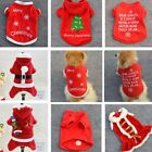 New Christmas Pattern Summer Autumn Puppy Small Dog Cat Pet Coat T-Shirt Clothes