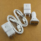 original fast LED cable Car wall charger for Samsung galaxy S6 S6edge+S7 Note5/4