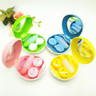 Egg Shaped Kit Storage Contact Lens Mini Glasses Case Box Container Holder Lot